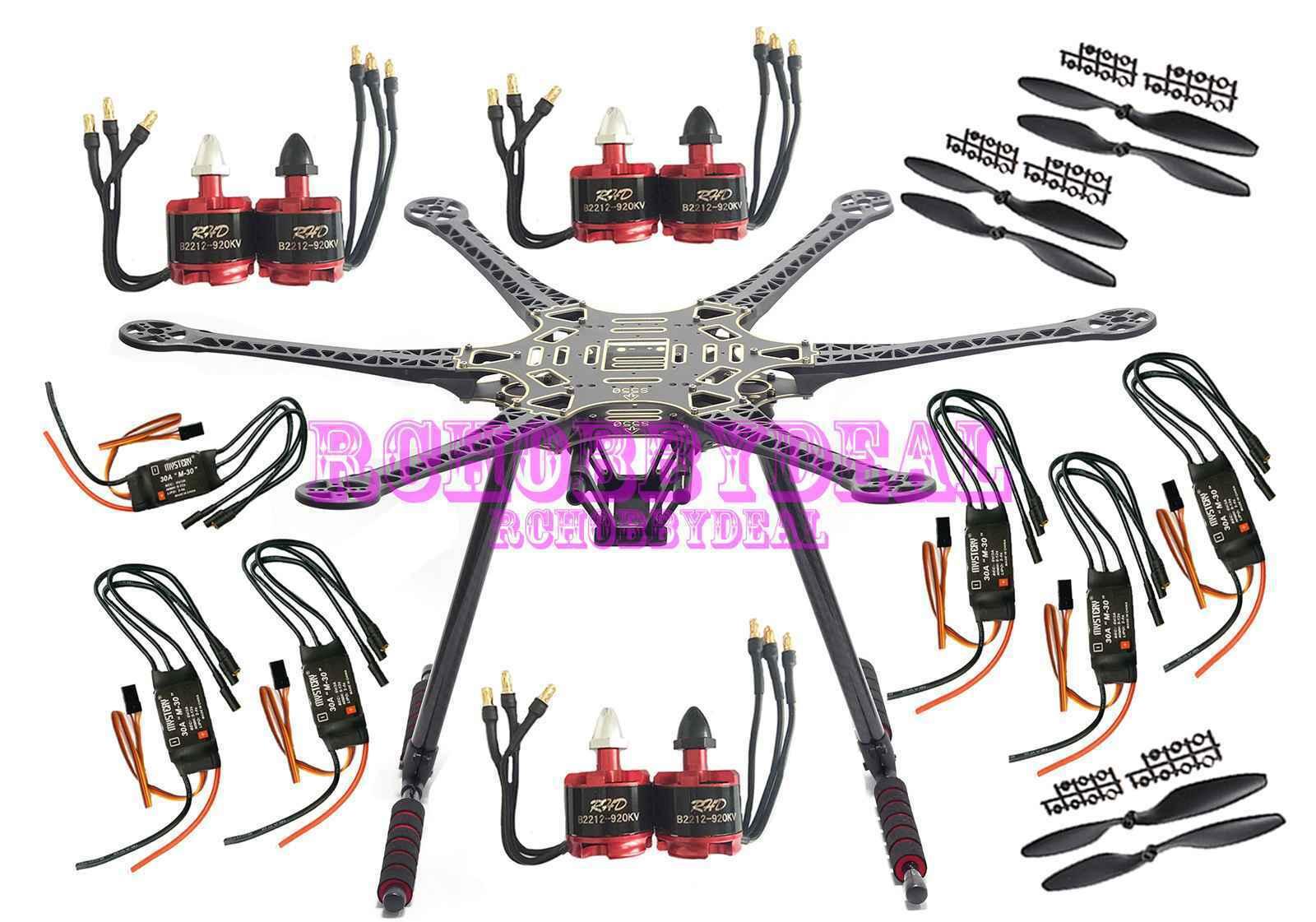 S550 F550 Carbon Fiber Hexacopter Rahmen Kit mit 6 Satz Motor und Regler D