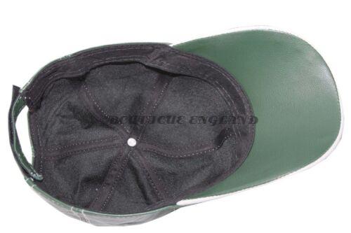 Baseball Verde Bianco Peak Lane unisex vera pelle morbida Hip-Hop Cap Hat