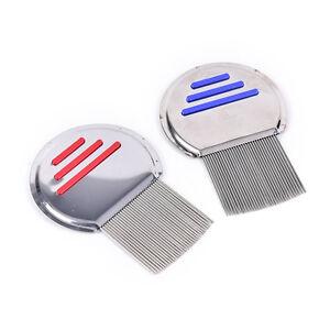 Brosse à peigne contre les poux de cheveux en acier inoxydable sans poussière_F