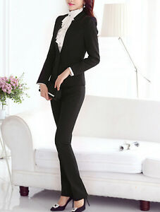 Traje-conjunto-de-mujer-negro-anorak-manga-larga-y-pantalones-S-38-40