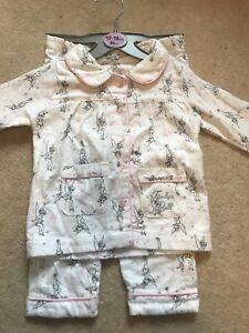 0e0471191 Baby Girl Disney Primark Flannel Pyjamas 12-18 Months