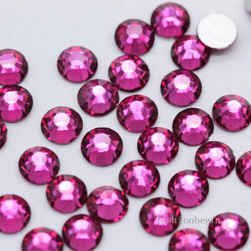 Color de ss16 Calidad Superior Cristal Flatback Uñas Pedrería Arte en Uñas Decoración hágalo usted mismo