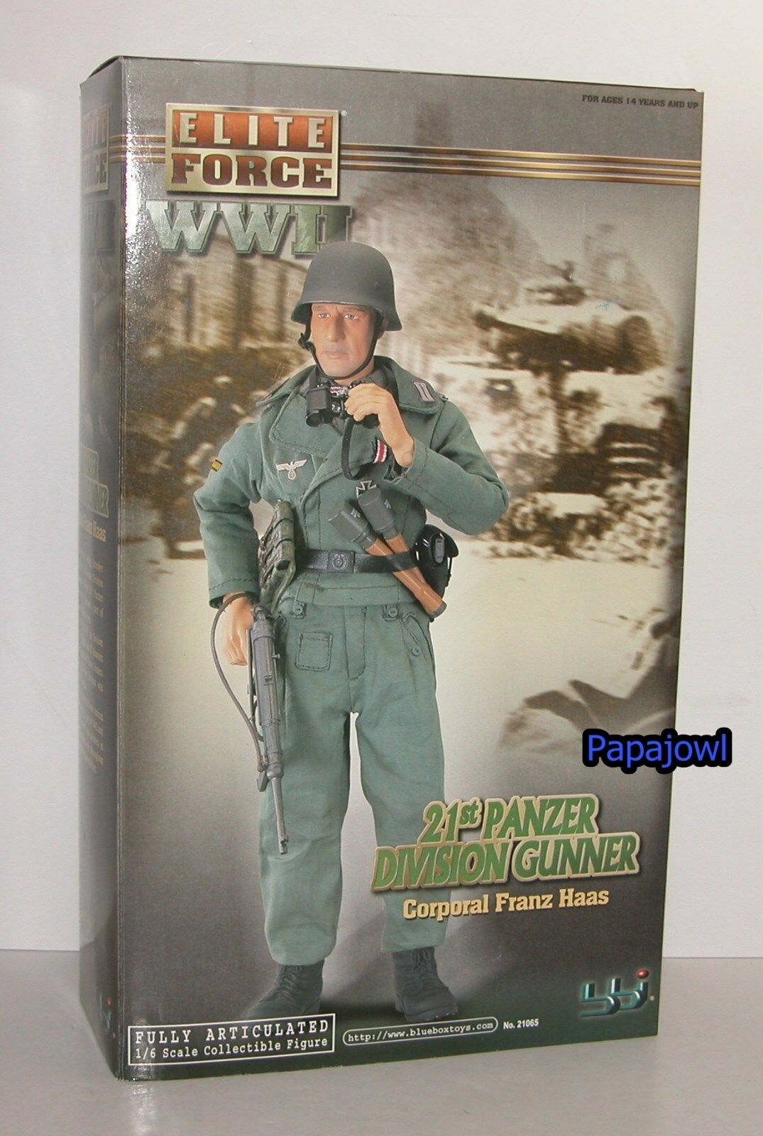 Elite Force WWII 21st Panzer Division Gunner Corporal Franz Hass 1 6 Figure