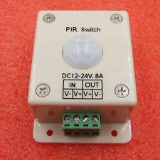 Pir Switch 8a Pir Motion Sensor Dc 12 24v For Led Strip Light Bulb Infrared New