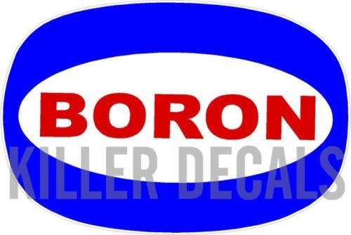 "BORO-1 24/"" BORON 1962-92 GASOLINE DECALS GAS AND OIL SOHIO"