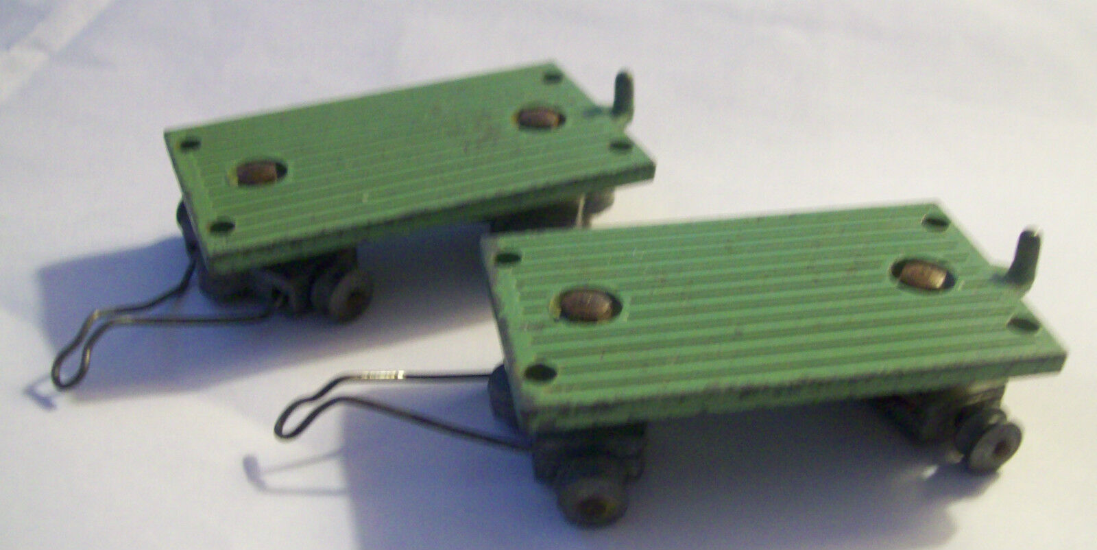 SOLIDO FRANCE 2 Vert remorques 1950 S Diecast Railway