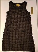 Nicole Miller Black Beaded Sleeveless Tank Top Size S Small