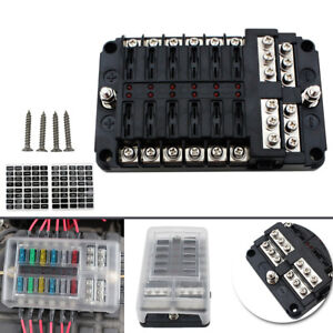 fuse box in boat 12 way fuse box circuit standard blade block holder for car boat  fuse box circuit standard blade block