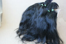 "Mohair Doll Hair color ultra black 8-11"" in 0.35 oz locks angora DIY baby reborn"