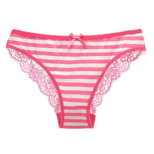 3 6 12 Pcs Lot Women/'s Cotton Bikini Briefs Panties Lace Cheeky Panty Underwear