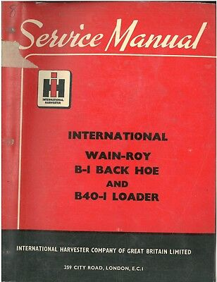 Tractor Manuals & Publications Wainroy B1 Pure And Mild Flavor Adroit International Wain-roy B-1 Backhoe & B40-1 Loader Workshop Manual Business, Office & Industrial