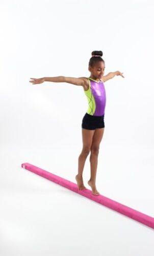 FAUX SUEDE GYMNASTIC BEAM 3m BY GYM FACTOR BARS TRAINING LEOTARDS MATS
