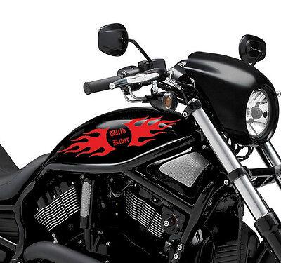 Bike Tank Motorcycle MotorBike Decal Sticker Vinyl Graphics 37 2 x Flame