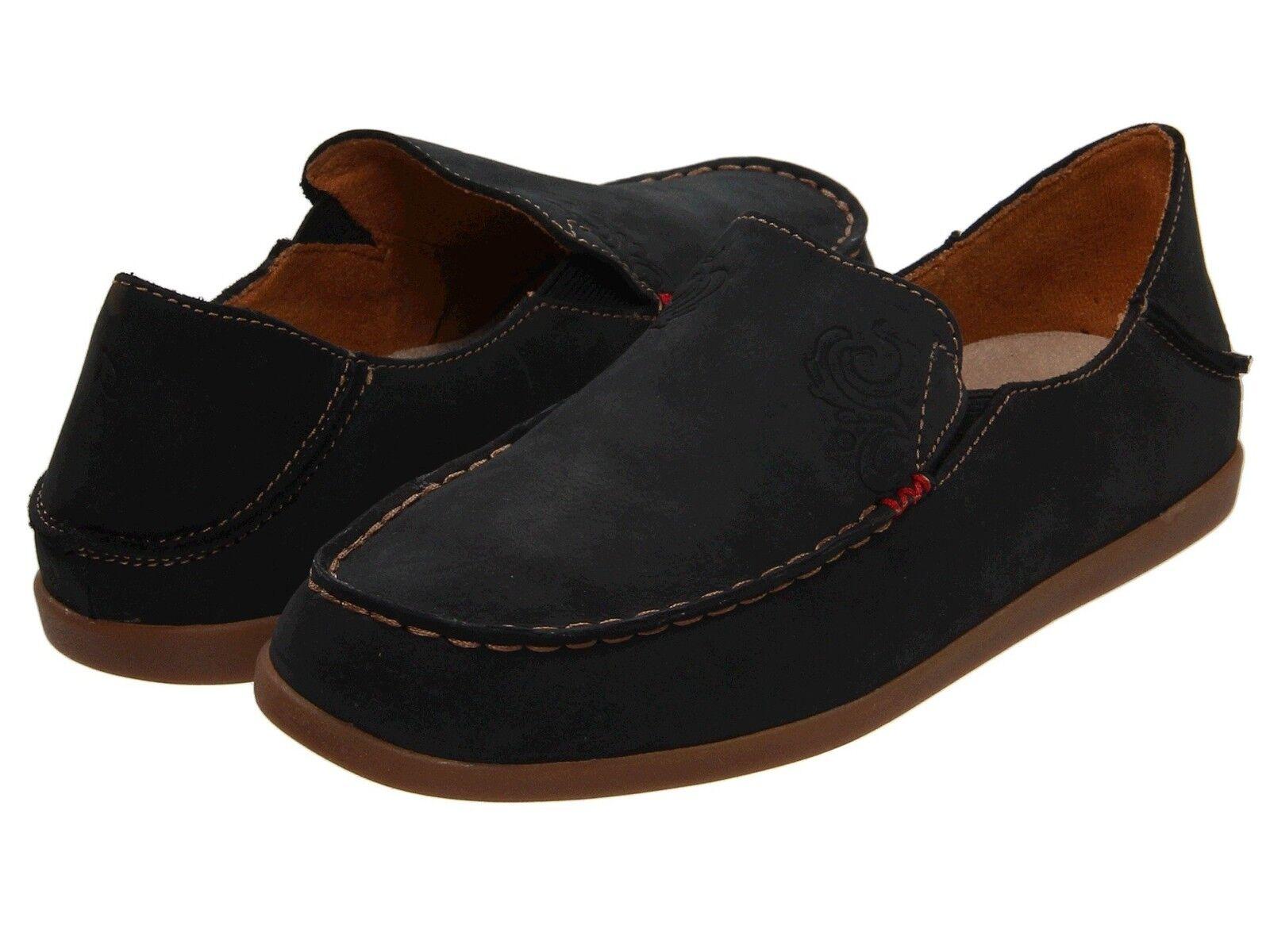 vendita all'ingrosso Donna  scarpe OluKai Nohea Nubuck Casual Loafers Loafers Loafers 20174-4034 nero Tan New  più economico