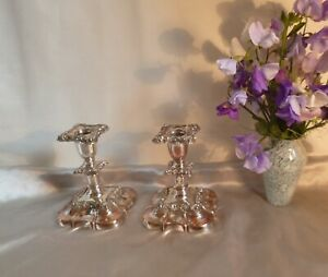 Georgian-Sheffield-Plate-amp-Copper-Embossed-Candlesticks-Early-19th-Century