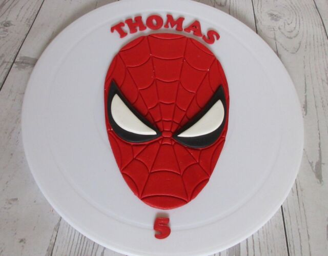 Incredible Spiderman Edible Cake Topper For Sale Ebay Personalised Birthday Cards Beptaeletsinfo