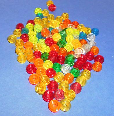60x LEGO® Platte 1x1 rund 4073 NEU transparent hellblau cyan