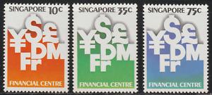 (88)SINGAPORE 1981 MONETARY AUTHORITY OF SINGAPORE SET 3V MNH.