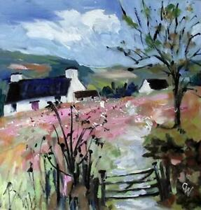 Welsh-Hill-Farm-impressionist-colourist-OIL-PAINTING-BY-CAROL-WEST-6-034-x-6-034