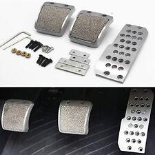 Silver Car Non-Slip Pedal Pad Cover Kit For Accord Civic CRX Prelude Integra RSX