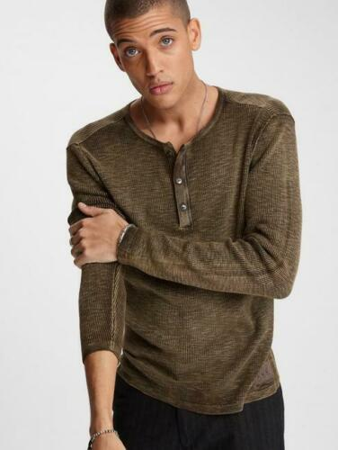 John Varvatos NASHVILLE WAFFLE HENLEY Kalamata All Season Sweater BNWT $225.