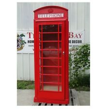 Red British Phone Box No Rust Aluminum Telephone Booth English Not Heavy Iron