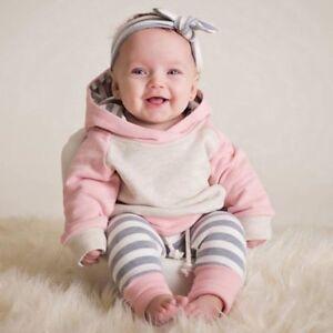 UK-Primi-Passi-Neonati-per-Bambine-Invernale-Completi-Vestiti-Cappuccio-Top