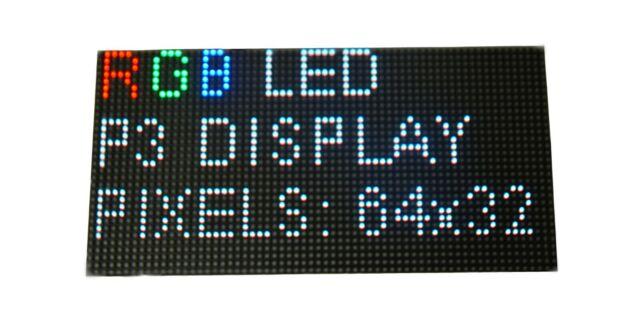 LED Matrix P3 RGB pixel panel 64x32 LED sign screen module