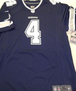 DAK PRESCOTT 2019 NIKE NFL DALLAS COWBOYS NAVY BLUE YOUTH GAME ... e6003d4d4