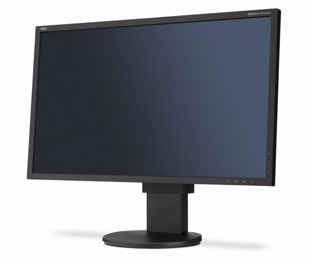 "NEC MultiSync EA243WM Black LCD 24"" Monitor with stand excellent condition"