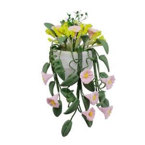 Miniature-Fake-Flower-Plant-with-Porcelain-Pot-1-12-Dollhouse-Garden-Yard-Decor