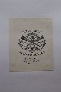 ✒ EX LIBRIS Albert Bouriac