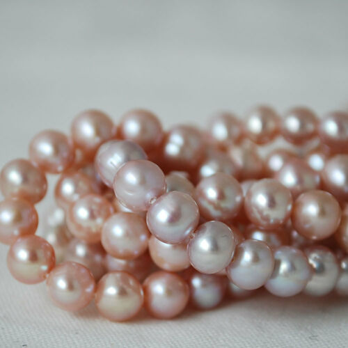 """8 mm AB 15/"""" Natural Freshwater Pearl Beads Round  Purple 7mm"""