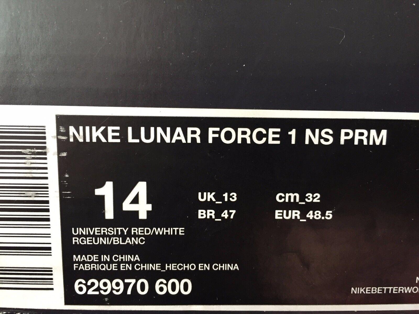 check out 863e6 00fde Nike Lunar Force 1 NS PRM Gym Red Black White Jordan Bulls Bred Air 629970  600 for sale online   eBay