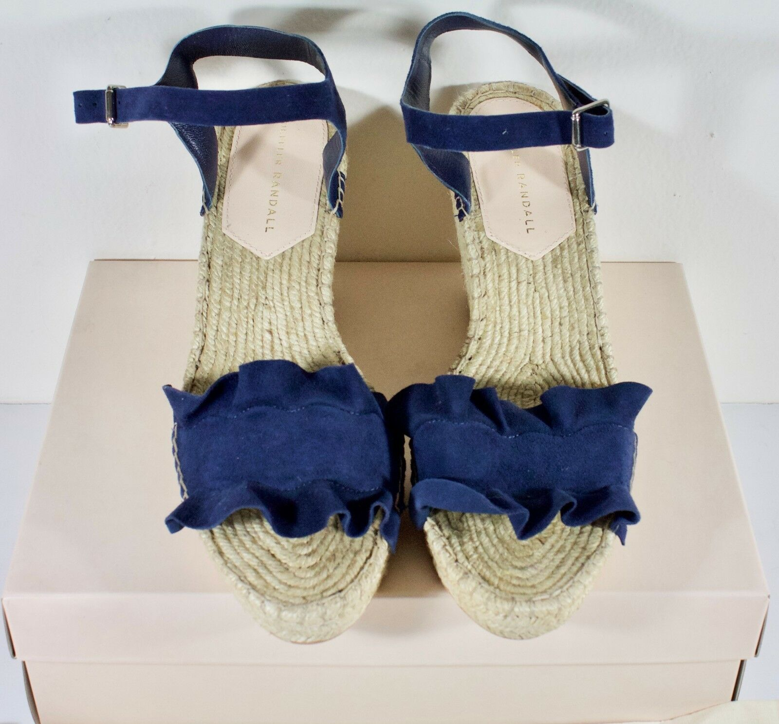 Loeffler Randall Gabby Azul Marino Tacón Cuña Cuña Cuña Sandalias para mujer Talla 10  295 venta al por menor  bienvenido a comprar