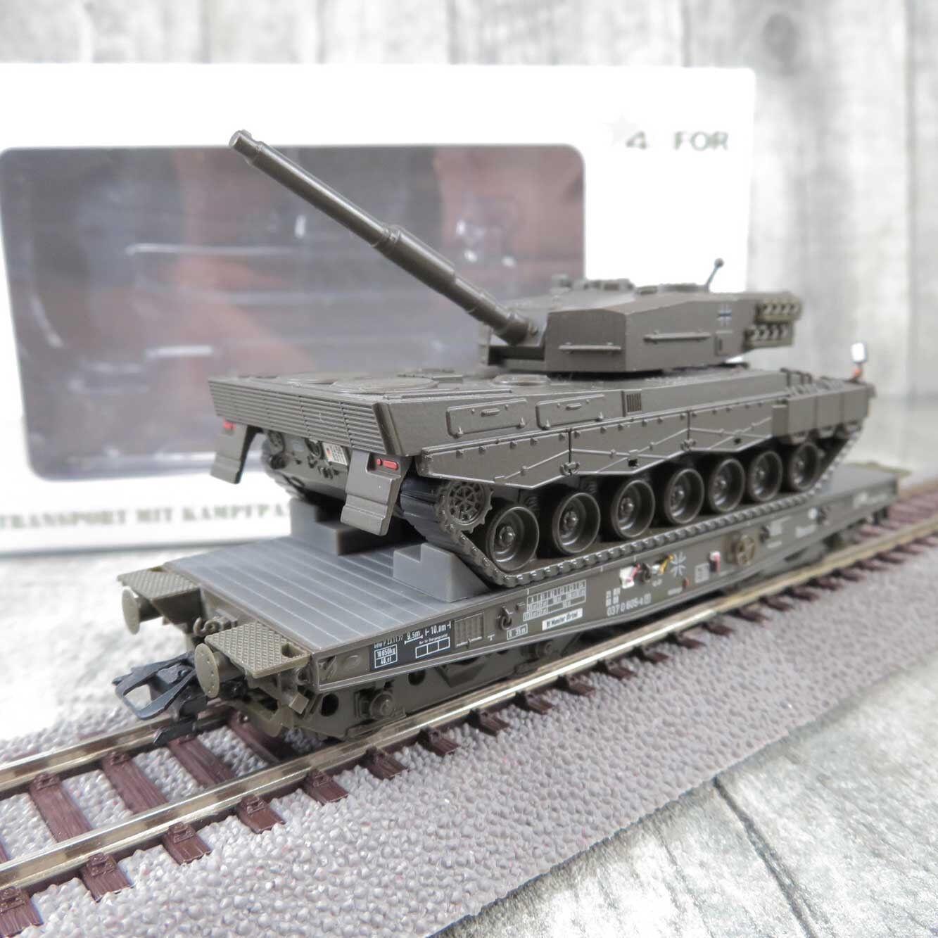 venta con descuento 4MFOR 48739-02 - H0 - Bahntransport + Kampfpanzer Leopard 2 2 2 - DB - OVP -  H20305  tienda de venta en línea