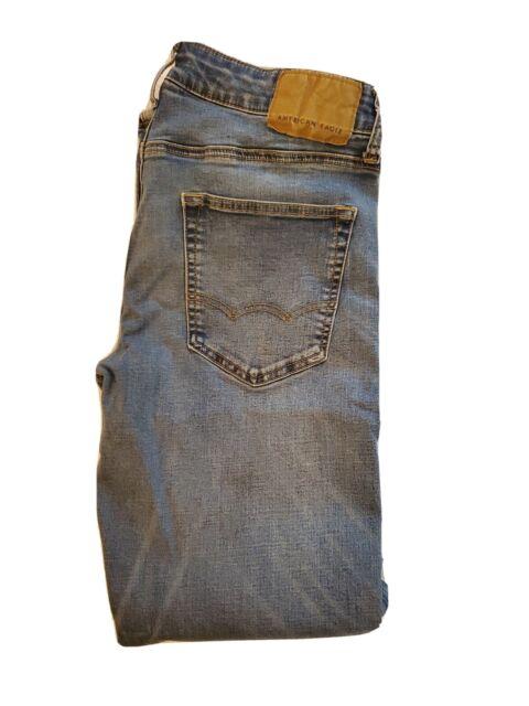 American Eagle Next Level Flex Original Straight Fit Denim Mens Jeans 31x32