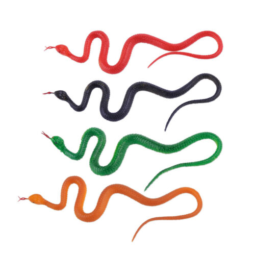 Plastic Realistic Toy Fake Snake Pretend Garden Prop GAG Joke Trick Halloween