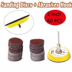 60-Stueck-50mm-Schleifscheiben-100-2000er-Schleifpapier-Klett-Schleifteller-Neu