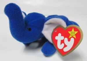Image is loading Ty-Teenie-Beanie-Baby-Peanut-the-Royal-Blue- 2be23862cafb