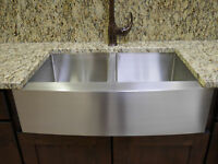 "36"" Stainless Steel Farmhouse Front Apron Double Bowl Kitchen Sink"