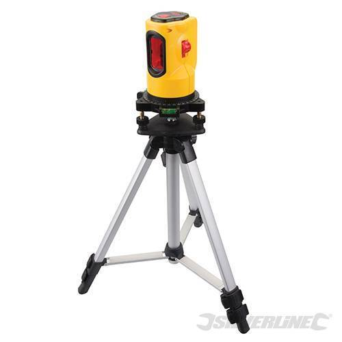 Silberline 10m 360° Rotary Laser Level Self Levelling Cross Line Measuring Case