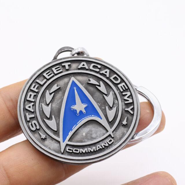 New Star Trek Logo Round Tag Metal Keyring Keychain Silver Color