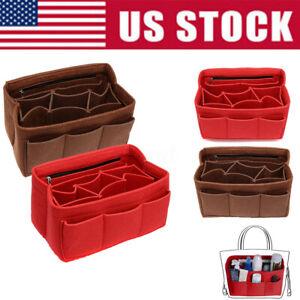 Multi-Pocket-Insert-Bag-Felt-Fabric-Purse-Handbag-Liner-Tote-Organizer-M-L-XL