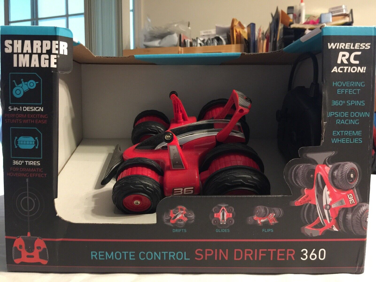 Sharper Image Radio Control Spin Drifter 360 Red  New in Box