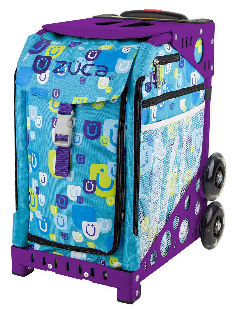 ZUCA Bag BE ZAPPY Insert & Purple Frame w Flashing Wheels - FREE SEAT CUSHION