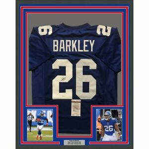 7a84c6fbf Image is loading FRAMED-Autographed-Signed-SAQUON-BARKLEY-33x42-New-York-