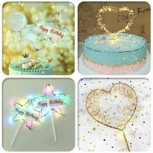 Fashion-LED-Pearl-Heart-Star-Cake-Topper-Happy-Birthday-Cake-Baking-Party-Decors