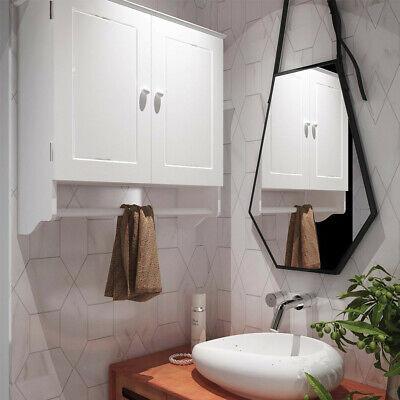 Modern Wall Mount Bathroom Medicine Storage Cabinet W Towel Shelf Toilet White Ebay