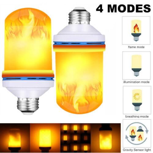 1pc 6W E27 LED Light Torch Fire Lamp Flames Effect Light Bulb Flacker Pear Decor